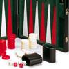 Backgammon similicuir 45cm, intérieur feutrine noir
