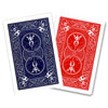 5 cartes Bicycle Magic double dos rouge/bleu
