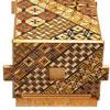 Boîte à secrets japonaise grande taille 5 sun 35 mouvements + tiroir secret