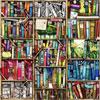 """Puzzle en bois Wentworth """"Bookshelf (Bibliothèque) - Colin Thompson"""" 250 pièces"""