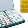 Mahjong tuiles résines dos pailleté doré