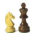 Pièces échecs plombées 76mm (3) Acacia / Buis
