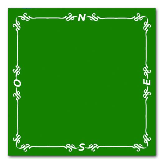 Acheter tapis pro de bridge 78x78 vert Tapis de jeux de carte