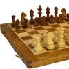 Jeu d'échecs pliable marqueté 40cm