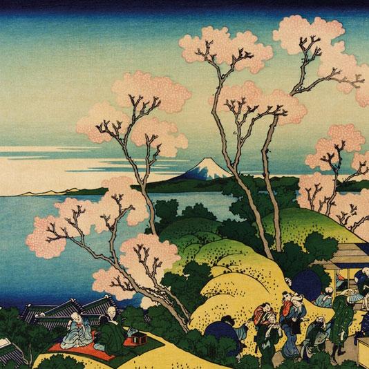 Goten Hill - Hokusai - puzzle Michèle Wilson 500 pièces