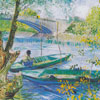 La pêche au printemps - VAN GOGH - puzzle Michèle Wilson 350 pièces