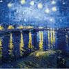 Nuit étoilée sur le Rhône - Van Gogh - puzzle Michèle Wilson 150 pièces