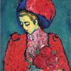 Fille Aux Pivoines - Jawlensky - puzzle Michèle Wilson 150 pièces