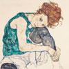 Femme Assise - Egon Schiele - puzzle Michèle Wilson 80 pièces