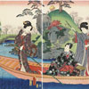 La Barque - Kunisada - puzzle Michèle Wilson 150 pièces
