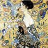 La dame à l'éventail - Klimt - puzzle Michèle Wilson 350 pièces