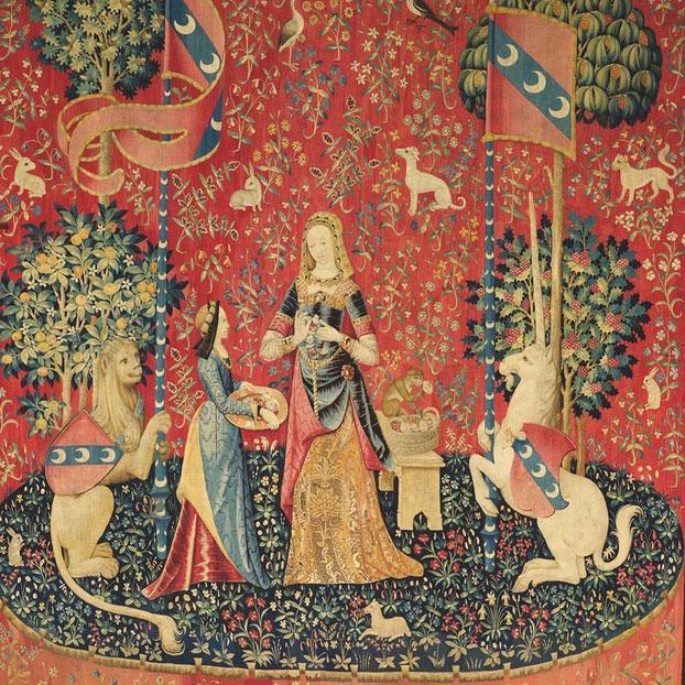 L'odorat - La Dame A La Licorne - puzzle Michèle Wilson 150 pièces