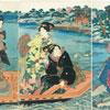 Beautés sur un bateau - Kunisada - puzzle Michèle Wilson 250 pièces