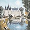 Azay Le Rideau - Fabienne Delacroix - puzzle Michèle Wilson 150 pièces