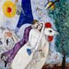 Les Mariés de la Tour Eiffel - Chagall - puzzle Michèle Wilson 250 pièces