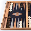 Backgammon Premium Noyer / Chêne sombre 60cm
