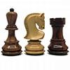 Pièces échecs 76mm DELUXE buis/Sheesham (boîte bois)