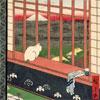 Chat Devant Les Rizières - Hiroshige - puzzle Michèle Wilson 200 pièces boîte métal