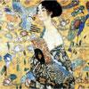 La Dame à l'Eventail - Klimt - puzzle Michèle Wilson 200 pièces boîte métal