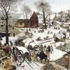 Le dénombrement de Bethléhem - Bruegel - puzzle Michèle Wilson 200 pièces boîte métal