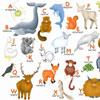 L'Alphabet des Animaux - puzzle Michèle Wilson 12 pièces BOÎTE KRAFT