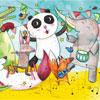 Le Concert des Animaux- Lucie Georger - puzzle Michèle Wilson 12 pièces BOÎTE KRAFT