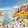 Scène Hivernale aux Toucans - Thomas - puzzle Michèle Wilson 100 pièces - BOÎTE KRAFT