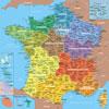 Carte de France départements - Puzzle Michel Wilson 100 pièces BOÎTE KRAFT