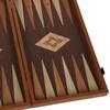 Backgammon aspect wengé et noyer 50cm