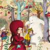 Rencontre en forêt - Sophie Lebot - puzzle Michèle Wilson 24 pièces BOÎTE KRAFT