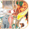 Animaux familiers en folie - Tard - puzzle Michèle Wilson 12 pièces