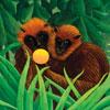 Singes Amoureux - Cuzzle Michel Wilson 30 pièces