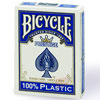 Cartes Bicycle PRESTIGE 100% plastic Jumbo bleu