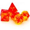 7 Dés polydice en boite GEM BLITZ jaune/orange
