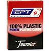 Cartes Fournier 100% Plastic EPT (red)