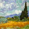 """Micro Puzzle Wentworth """"Champs avec cyprès"""" - Van Gogh"""