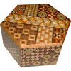 Boîte à secrets japonaise hexagonale 6 mouvements