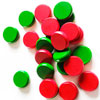 Palets Crokinole verts/rouges