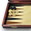 Backgammon couleur acajou 28cm