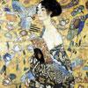 La dame à l'éventail - Klimt - puzzle Michèle Wilson 80 pièces