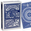 Cartes Tally-Ho Circle dos bleu