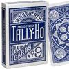 Cartes Tally-Ho Half Fan Back dos bleu