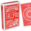 Cartes Tally-Ho Circle dos rouge