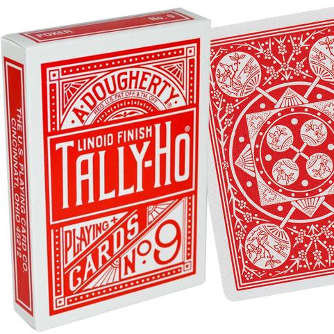 Cartes Tally-Ho Half Fan Back dos rouge