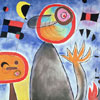 Echelles en roue de feu - Miro  - puzzle Michèle Wilson 12 pièces