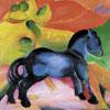 Cheval bleu - Franz Marc - puzzle Michèle Wilson 12 pièces