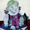Maya à la poupée - Picasso - puzzle Michèle Wilson 12 pièces